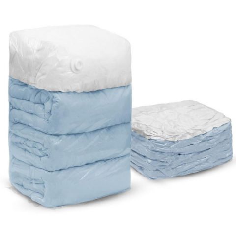 Reposit Jumbo Gusseted Stacking Cube Superking Duvet Vacuum Storage Bags (6 Pack) Save £29